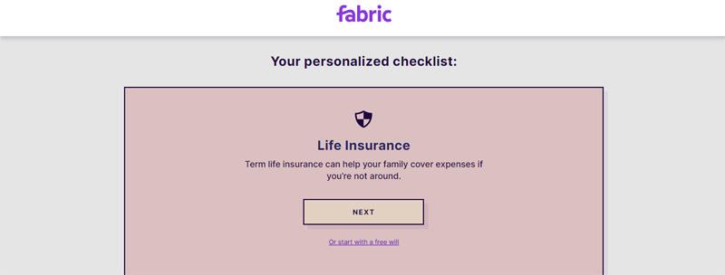 fabric personalized checklist