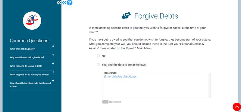 forgive debts
