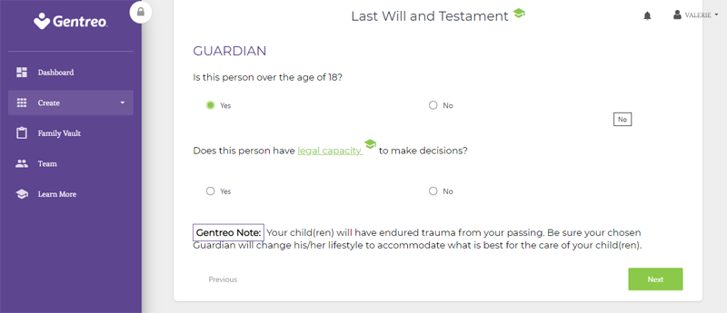 gentreo last will and testament