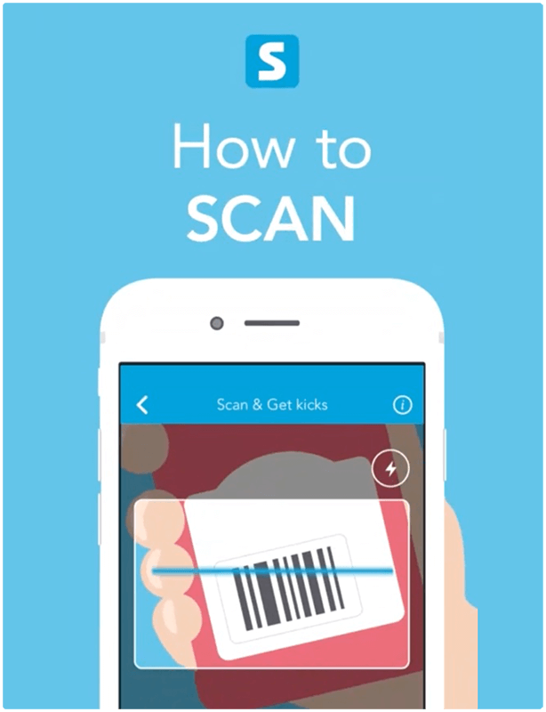 how to scan shopkick