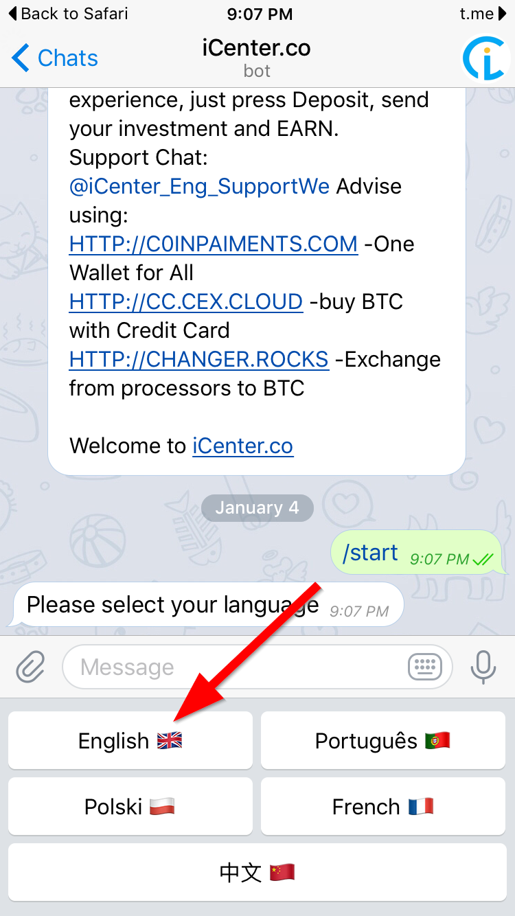 How to Use the iCenter Bitcoin Bot August 2019