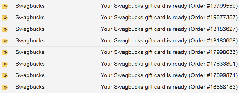 iTunes Gift Cards on Swagbucks