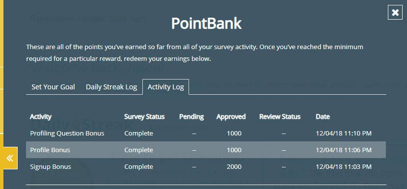 Legitimate Paid Surveys Point Club - Bonus Points