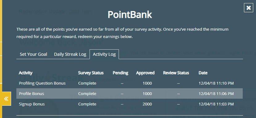 Legitimate Paid Surveys Point Club - Bonus Points
