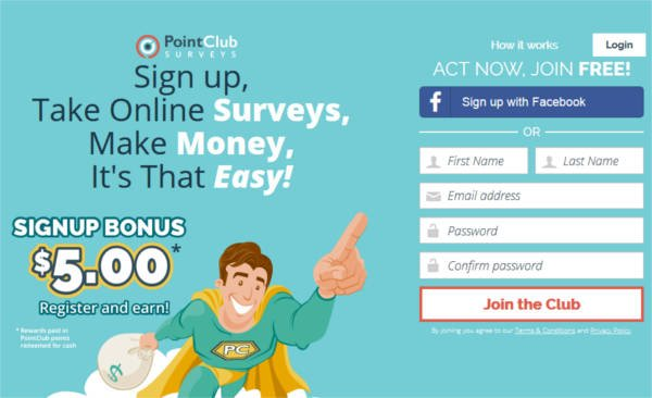 Legitimate Paid Surveys Point Club - Register
