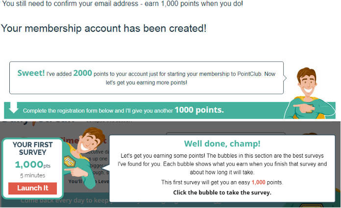 Legitimate Paid Surveys Point Club - Steps for Bonus