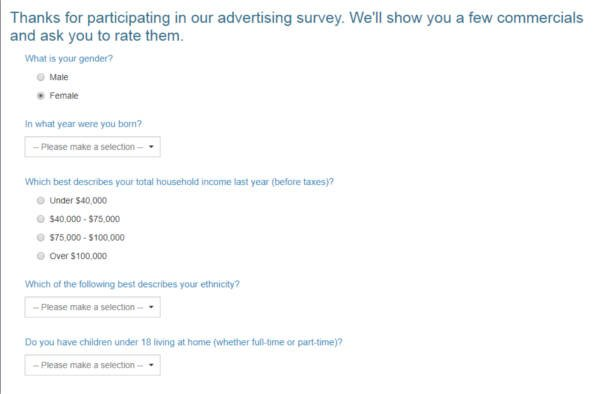 Legitimate Paid Surveys Point Club - Taking Survey 2