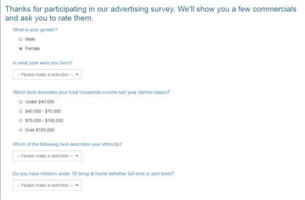 Legitimate Paid Surveys Point Club - Taking Survey 2