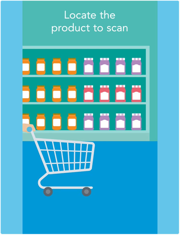 locate the product to scan
