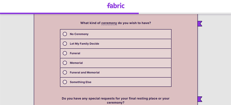 make decisions about final arrangements on fabric