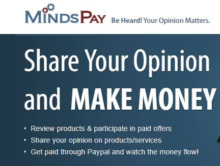 MindsPay Paid Surveys - Homepage Claim