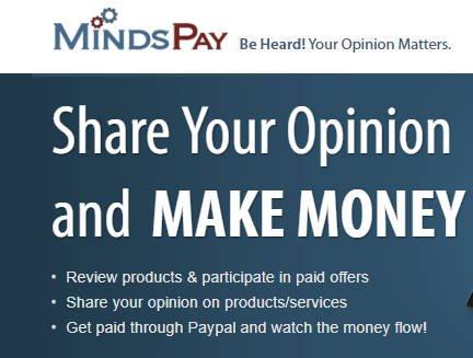 MindsPay Paid Surveys - Homepage Claim