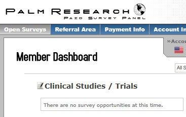 Online Survey Palm Research - Clinical Studies