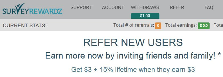 Online Survey Survey Rewardz - Refer a Friend