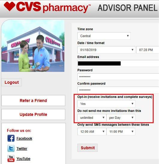 Online Surveys CVS - Email Preferences