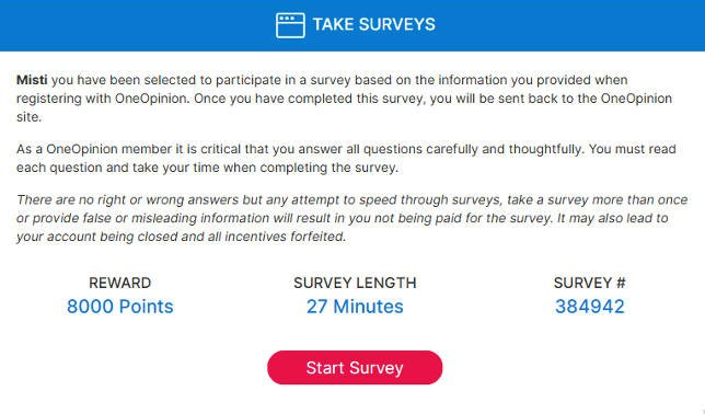 Online Surveys One Opinion - Online Surveys One Opinion - Available Survey 2