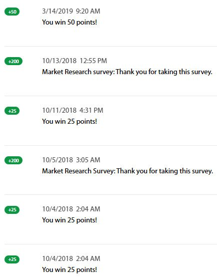 Online Surveys OpinionSquare - Earnings History