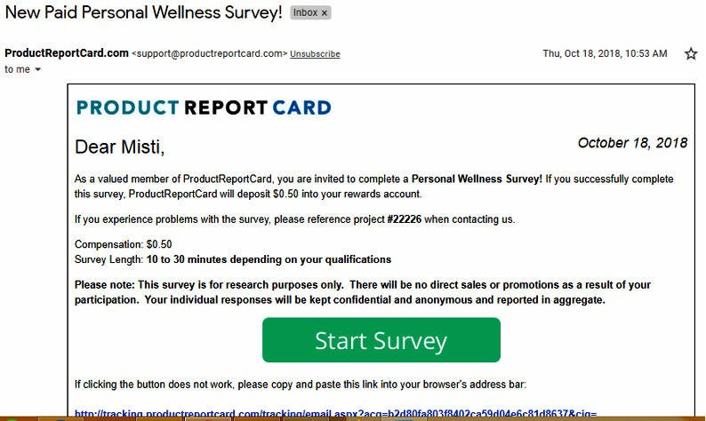 Online Surveys Product Report Card - Email Survey