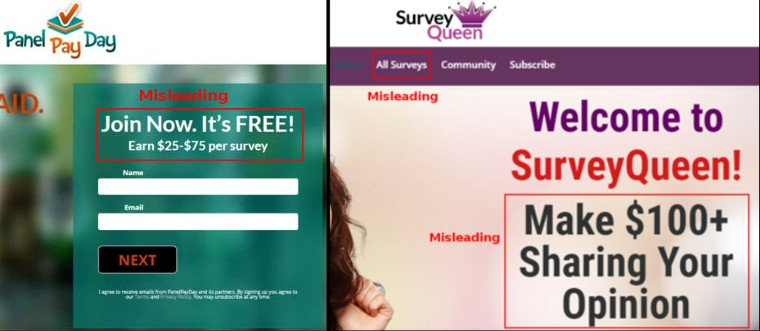 Online Surveys Survey Sheep - Misleading Sites