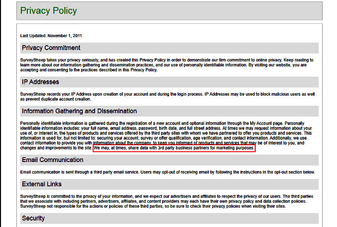 Online Surveys Survey Sheep - Privacy Policy