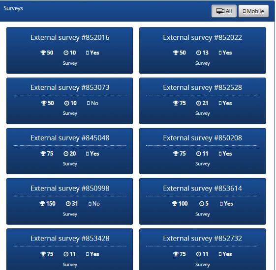 Online Surveys Tellwut - Available Surveys