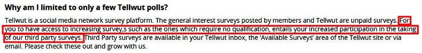 Online Surveys Tellwut - How to Access No Qualification Surveys