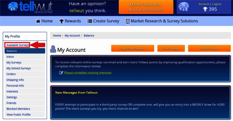 Online Surveys Tellwut - Link to Available Surveys