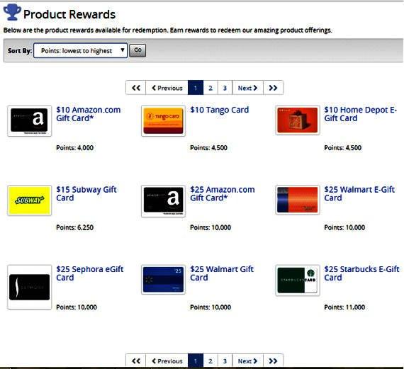 Online Surveys Tellwut - Rewards