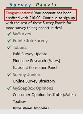 Paid Surveys Cashback Research - Bonus for Survey Panels