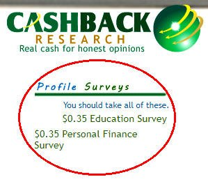 Paid Surveys Cashback Research - Profile Surveys