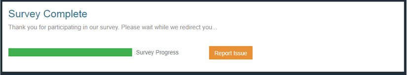 Paid Surveys Creations Rewards - Survey Completed Message