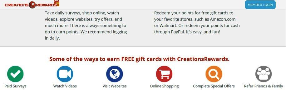 Paid Surveys Creations Rewards - Ways to Earn