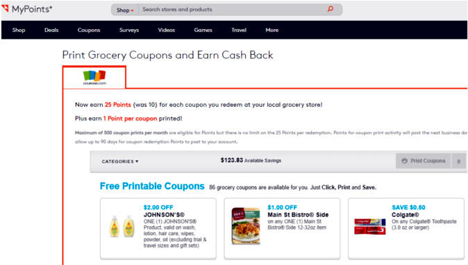 Paid Surveys MyPoints Coupons