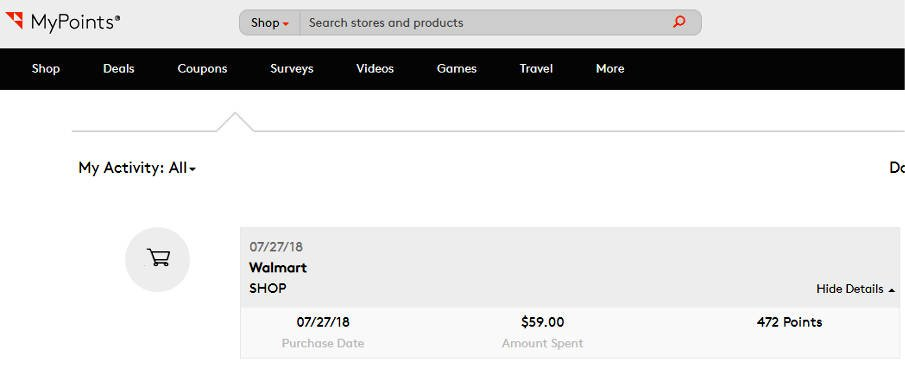 Paid Surveys MyPoints Shopping Reward