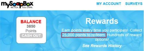 Paid Surveys MySoapBox - Cash Out Minimum