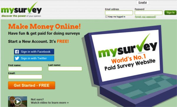 Paid Surveys MySurveys - Join