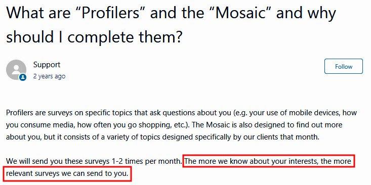 Paid Surveys Springboard America - Mosaic Surveys Explanation