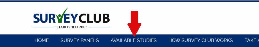 Paid Surveys Survey Club - Available Studies Link