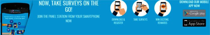 Paid Surveys The Panel Station - Mobile App