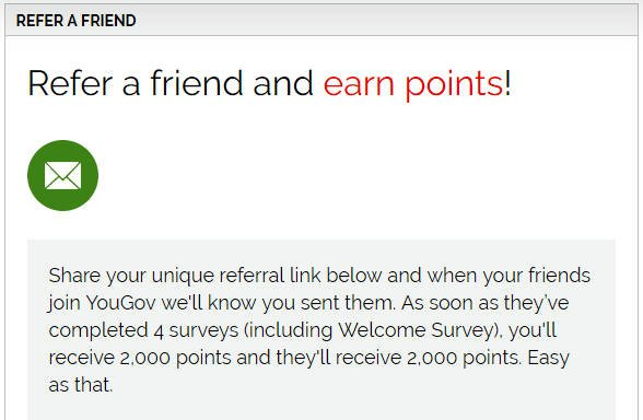 Paid Surveys YouGov - Refer a Friend