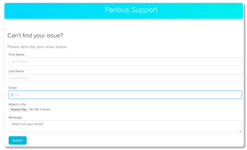 paribus customer support