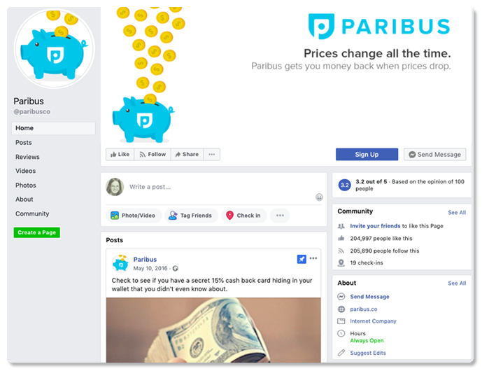 paribus on facebook