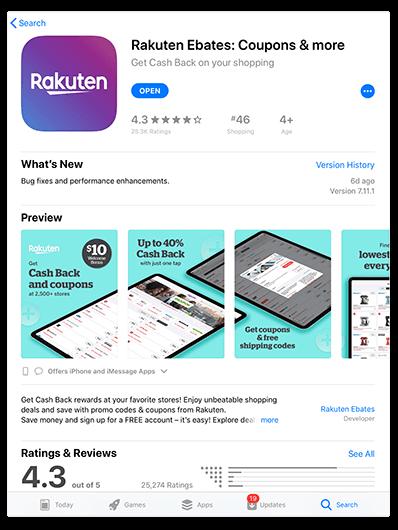 rakuten ebates download app