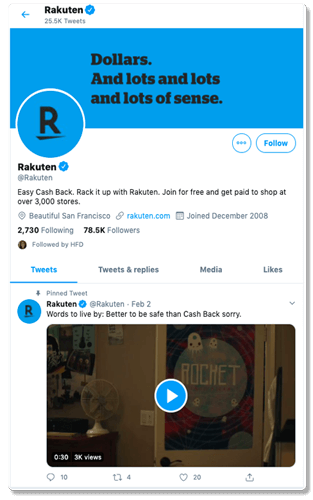 rakuten tweeter