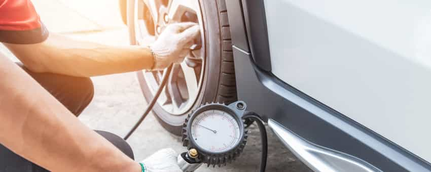 save money on gas by checking your tires