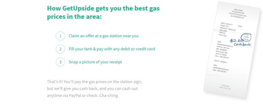 save money on gas with getupside