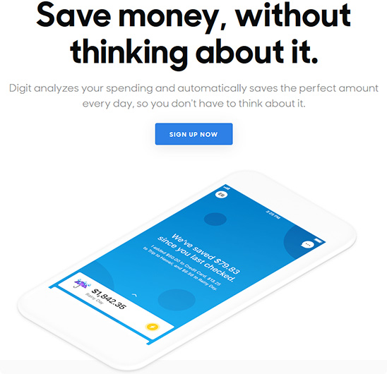 save money without thinking about it with digit
