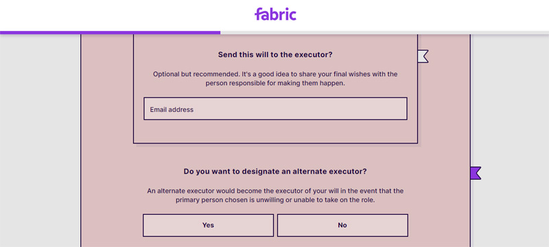 send will to executor on fabric