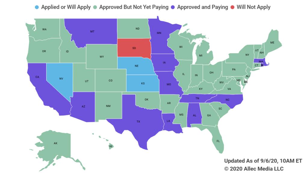 state unemployment memorandum update