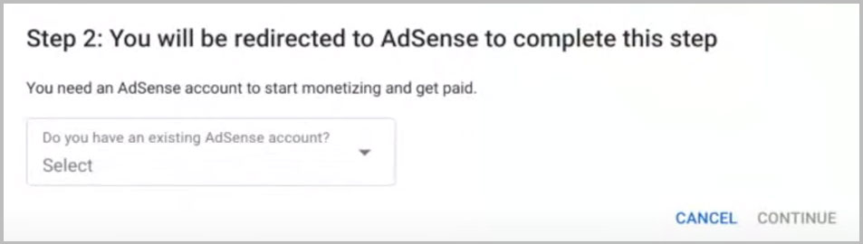 step 2 sign up for google adsense
